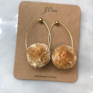 J Crew Pom Pom earrings
